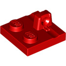 LEGO Red Hinge Plate 2 x 2 with 1 Locking Finger on Top (92582)