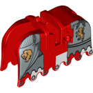 LEGO Red Horse Barding with Gold Lions, Silver Chain Protection (91691)