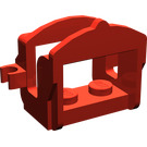 LEGO Red Horse Saddle with Two Clips (Flat Fronted Clips) (4491)