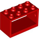 LEGO Red Hose Reel 2 x 4 x 2 Holder (4209)
