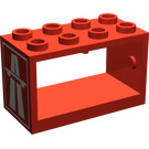 LEGO Hose Reel 2 x 4 x 2 Holder with Motorway Logo (4209)