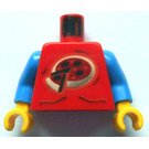 LEGO Red Island Xtreme Stunts Torso with Blue Arms and Yellow Hands