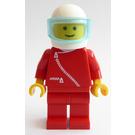 LEGO Red Jacket with Zipper, White helmet with transparent light blue visor Minifigure