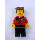 LEGO Red jacket zipper pockets and classic space logo Town Minifigure