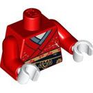LEGO rouge Kimono Girl Torso (88585)