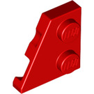 LEGO Red Left Wedge Plate 2 x 2 27° (24299)
