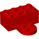 LEGO Red Magnet Brick 2 x 4 with Plate (90754)