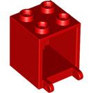 LEGO Red Mailbox Casing 2 x 2 x 2 (4345)