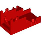 LEGO Red Minifig Cannon 2 x 4 Base (2527)