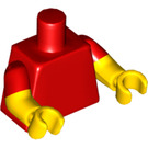 LEGO Red Minifig Torso, short sleeve with yellow arms (16360)