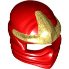 LEGO Red Minifigure Face Wrap with Gold Foreheard (99305)