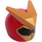 LEGO Red Minifigure Helmet with Super Warrior Decoration