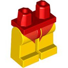 LEGO Red Minifigure Hips with Yellow Legs with Red Short Swimming Pants (91631)