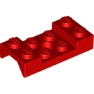 LEGO Red Mudguard 2 x 4 with Arch Studded with Hole (60212)
