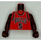 LEGO Red NBA player, Jalen Rose, Chicago Bulls Torso