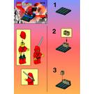 LEGO Red Ninja's Dragon Glider Set 3074 Instructions