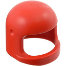 LEGO Red Old Helmet with Thick Chinstrap and Visor Dimples