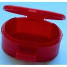 LEGO Red Oval Case with Handle (6203)