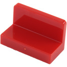 LEGO Red Panel 1 x 2 x 1 with Rounded Corners (4865 / 26169)