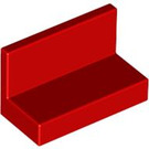 LEGO Red Panel 1 x 2 x 1 without Rounded Corners (4865)