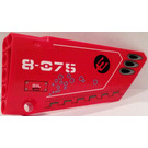 LEGO Red Panel 18 Right with '8-075', Vents and Bubbles Sticker