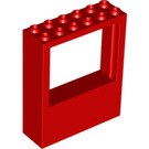 LEGO Red Panel 2 x 6 x 6 with Window Hole (6236)