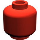 LEGO Red Plain Head (Recessed Solid Stud) (3626)