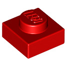 LEGO Red Plate 1 x 1 (3024)