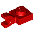 LEGO Red Plate 1 x 1 with Horizontal Clip (Flat Fronted Clip) (6019)