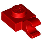 LEGO Red Plate 1 x 1 with Horizontal Clip (Thick Open 'O' Clip) (52738 / 61252)