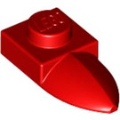 LEGO Red Plate 1 x 1 with Tooth (49668)