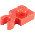 LEGO Red Plate 1 x 1 with Vertical Clip (Thick Open 'O' Clip) (4085 / 60897)