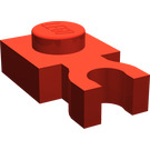 LEGO Red Plate 1 x 1 with Vertical Clip (Thick 'U' Clip) (4085 / 60897)
