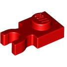 LEGO Red Plate 1 x 1 with Vertical Clip (Thin 'U' Clip) (4085 / 60897)