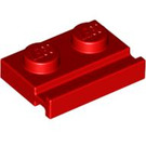 LEGO Red Plate 1 x 2 with Door Rail (32028)