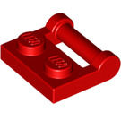LEGO Red Plate 1 x 2 with Handle (Closed Ends) (48336)