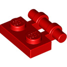 LEGO Red Plate 1 x 2 with Handle (Open Ends) (2540)