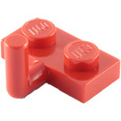 LEGO Red Plate 1 x 2 with Hook (6mm Horizontal Arm) (4623)