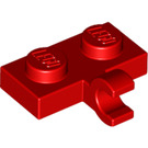 LEGO Red Plate 1 x 2 with Horizontal Clip (11476)