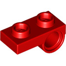 LEGO Red Plate 1 x 2 with Horizontal Hole (18677 / 28809)