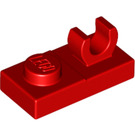 LEGO Red Plate 1 x 2 with Top Clip without Gap (44861)