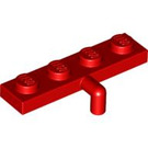 LEGO Red Plate 1 x 4 with Arm (30043)