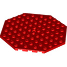LEGO Red Plate 10 x 10 Octagonal with Hole and Snapstud (89523)