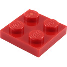 LEGO Red Plate 2 x 2 (3022 / 94148)