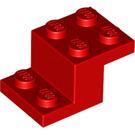 LEGO Red Plate 2 x 2 with 2 x 3 x 1.3 Bracket (18671)