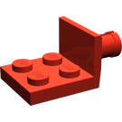 LEGO Red Plate 2 x 2 with Helicopter Tail Rotor Holder (3481)
