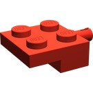 LEGO Red Plate 2 x 2 with Wheel Holder (4488)