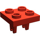 LEGO Red Plate 2 x 2 with Wheel Holder Single