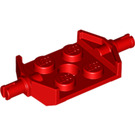 LEGO Red Plate 2 x 2 with Wide Wheel Attachments (Non-Reinforced Bottom) (6157)