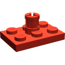LEGO Red Plate 2 x 3 with Helicopter Rotor Holder